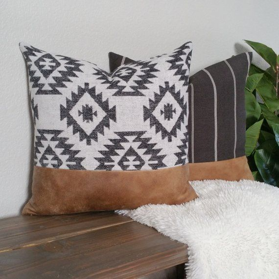 Aztec Print Lumbar Pillow Cover