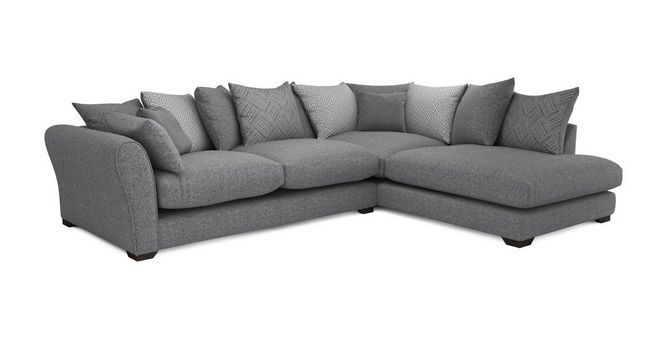 Sublime Left Hand Facing Arm Large Corner Group Dfs Deep Seating Sectional Couch Left Handed