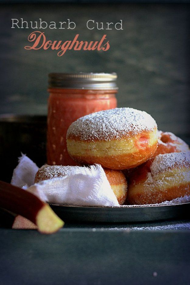 Homemade Donut Recipes | DIY Rhubarb Curd Doughnuts by Homemade ...