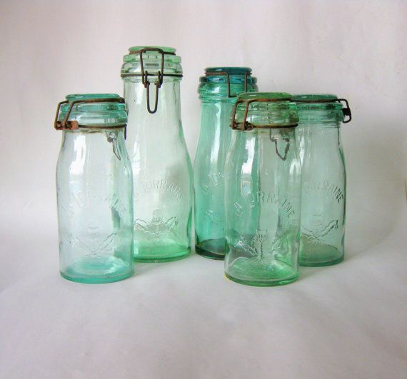 La Lorraine Fruit Jar French Canning Jar 1 Litre Blue