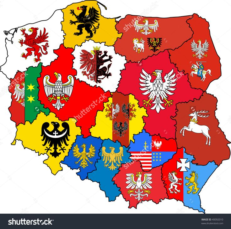 Maptitude — Coats of arms of Poland's voivodeships