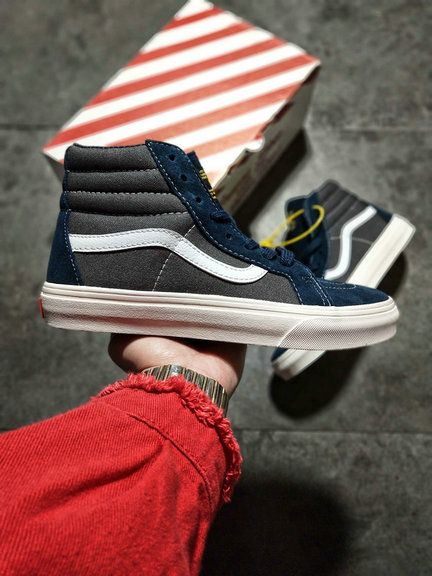 41fd7532145 WTAPS x Vans Vault SK8-Hi Dark Grey Blue Skate Shoe For Sale  Vans ...