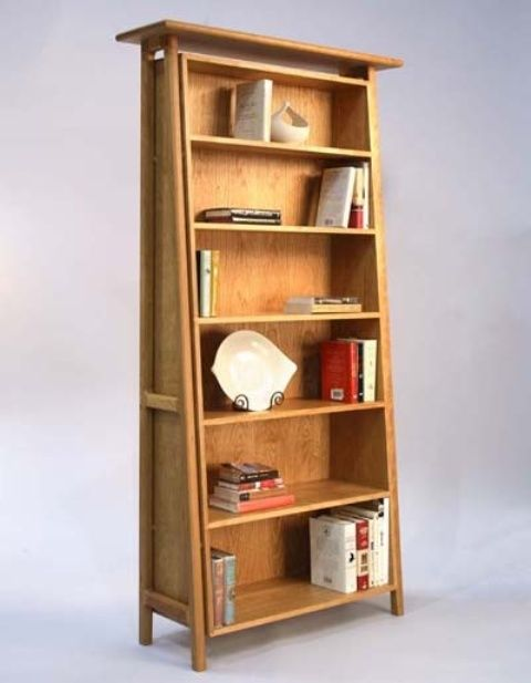 stylish bookcase design in various models exciting mid century modern bookcase desgn with six levels shelving made from wood material deco