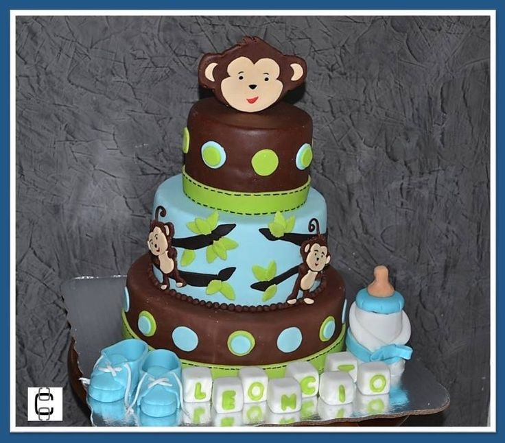 Baby Shower Monkey Cakes / Pastel De Baby Shower De Changuitos.