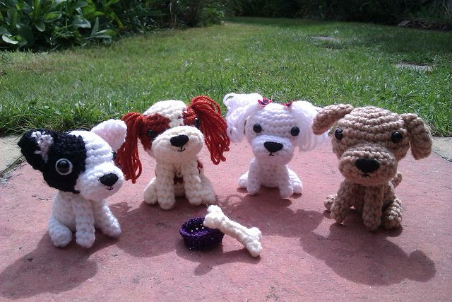 amigurumi crochet dogs (from the book Ami Dogs) | Flickr - Photo Sharing!