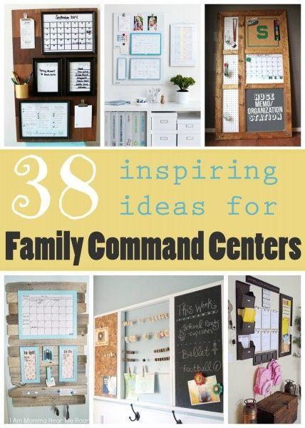 38 Inspiring Ideas for Family Command Centers ~ Tipsaholic.com #family #organization #commandcenter
