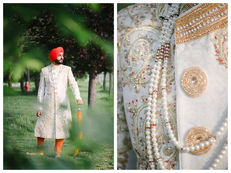 toronto south asian indian wedding photography - groom sherwani details - kirpan sword