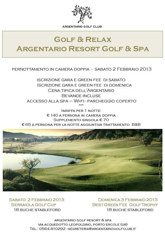 Per un Week-End pieno di Golf e Relax in una grande location.