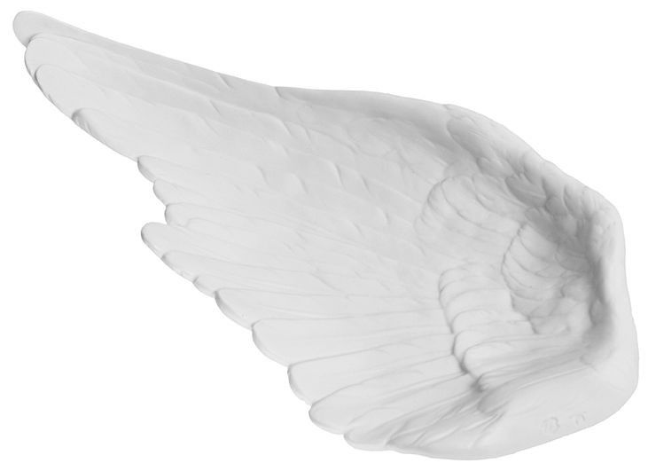 Nymphenburg Bird's Wing Dish. Striking in its simplicity and flawless in its execution, this exquisitely detailed bowl is formed of a single gently cupped bird wing. White bisque porcelain.