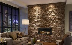 Awesome Contemporary Stone Fireplace Gallery