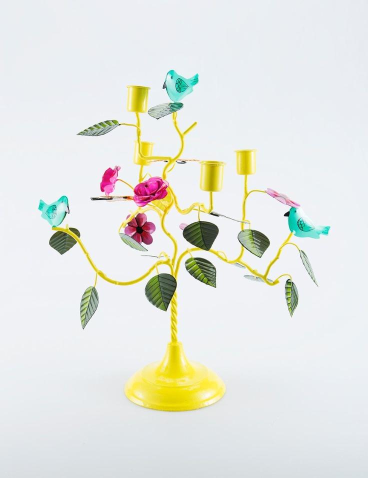 FOREST kandelaber gul | T-light standing | Ljus & lyktor | Inredning | INDISKA Shop Online