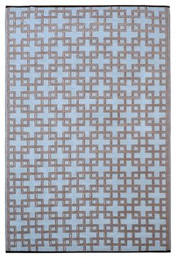 Indoor/Outdoor Rheinsberg Rug, Powder Blue & Warm Taupe, 3x5 contemporary outdoor rugs