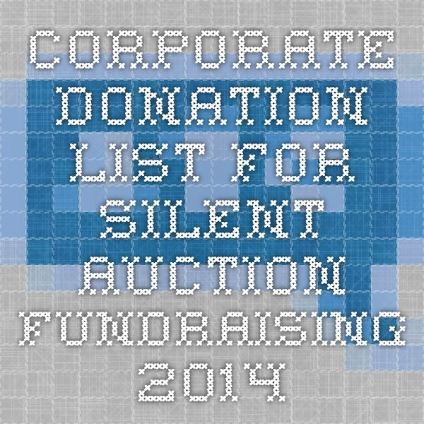 how to get silent auction donations