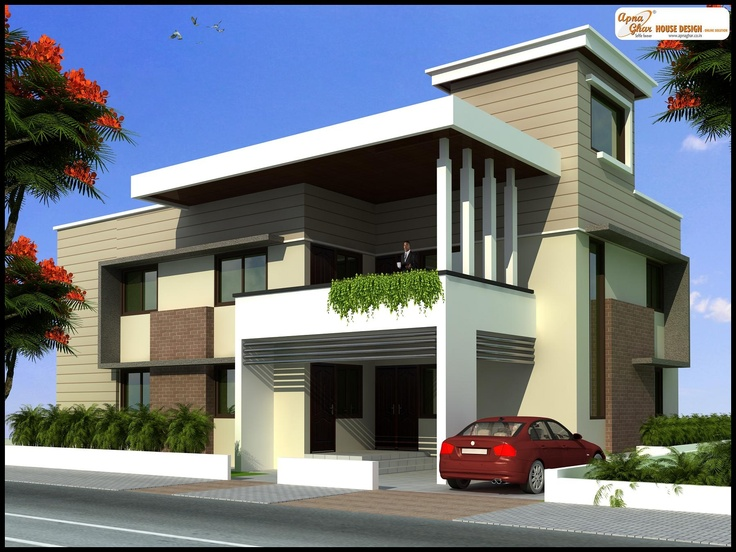 Modern Duplex 2 Floor Design Click On This Link Http Www Apnaghar Co In House Design 371 Aspx To View Free Floor Plans Naksha And Other Sp