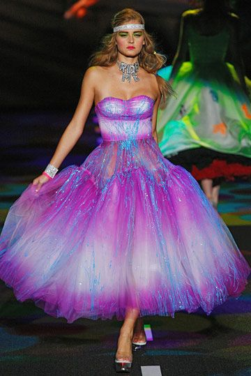 Neon Electric Blue Purple dress