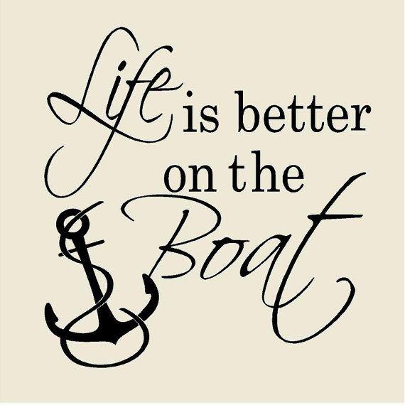 Life is Better on the Boat Nautical Wall Decal Vinyl Wall Decor Farmhouse Beach…