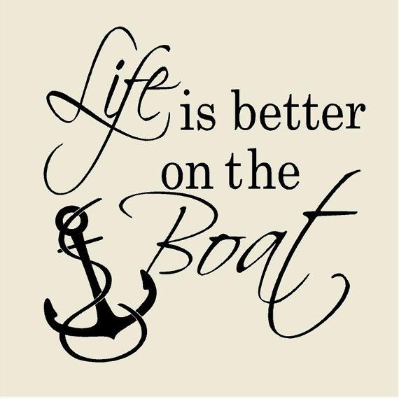 Life is Better on the Boat Nautical Wall Decal Vinyl Wall Decor Farmhouse Beach…