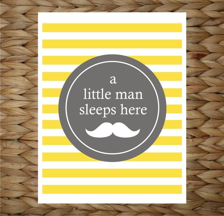 Custom Baby Print 8x10 Wall Art - A Little Man Sleeps Here - original design by a drop of golden sun.: Wall Art, 8X10 Wall, Prints 8X10, Originals Design, Man Sleep, Baby Prints, Little Man, Golden Sun, Custom Baby