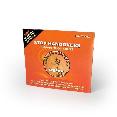 Bytox Hangover Prevention Remedy Hangover Patch Bytox http://www.amazon.com/dp/B0063FTWK0/ref=cm_sw_r_pi_dp_SNpkub14Y8ENG