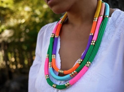 DIY Color rope necklace: Utility Rope, Craft, Rope Necklace, Diy'S, Diy Jewelry, Necklaces, Diy Utility, Necklace Tutorial