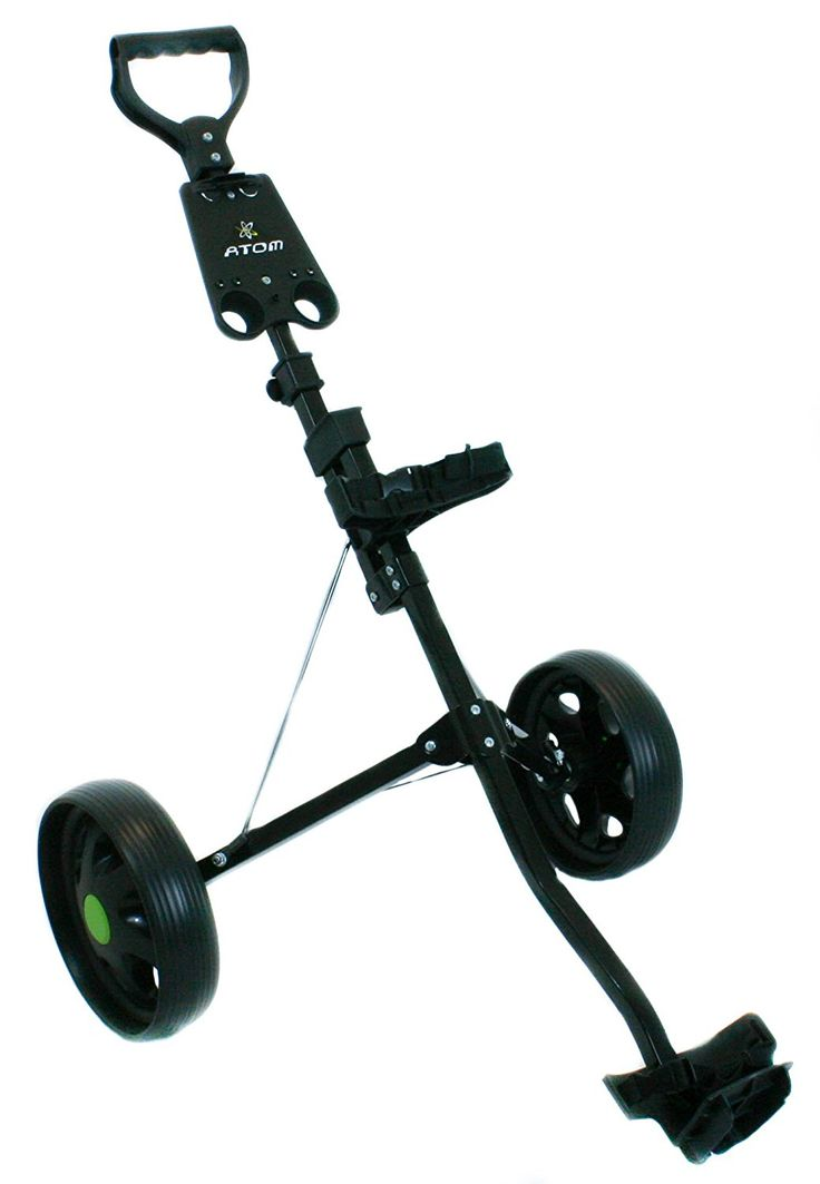 Ideal for junior golfers this great value atom junior 2 wheel golf pull carts is made from a high quality lightweight steel tubing construction!