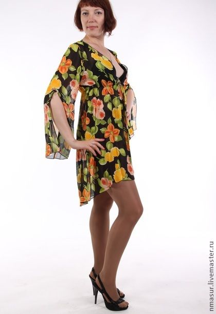 Пеньюар `Цветочная радость` 5. Пеньюар (от французского peignoir) - домашняя одежда для женщин, представляющая собой разновидность халата всегда в моде и всегда востребован!  Моя модель это не просто обыкновенный халат, нежный и свободный пеньюар хорошо…