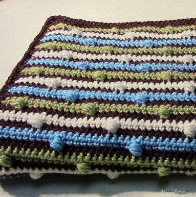 josephs puff stitch blanket Jessie at Home Crochet Baby/Kids ...