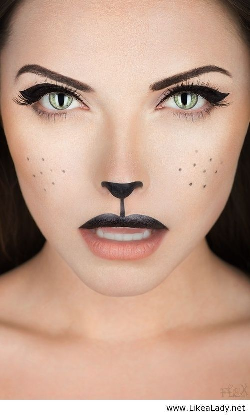 Halloween cat makeup. SO cute and totally do-able