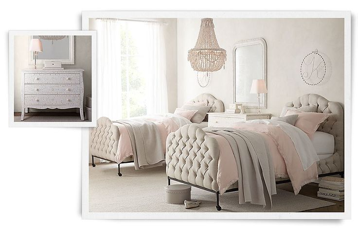 Francesca girls rooms restoration hardware baby child for Baby twin bedroom ideas