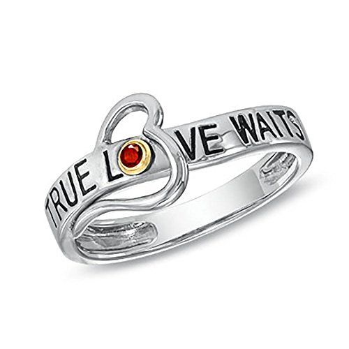 True Love Waits Heart Ring in Sterling Silver July Birthstone Swarovski Size 7 >>> Read more  at the image link.