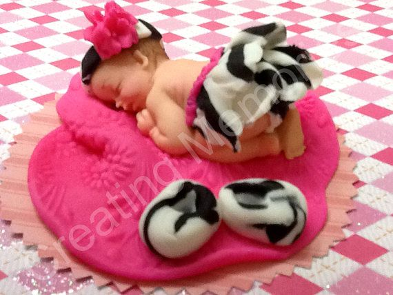 Baby in a Zebra Print Tutu   White Skin Color by anafeke on Etsy, $15.00
