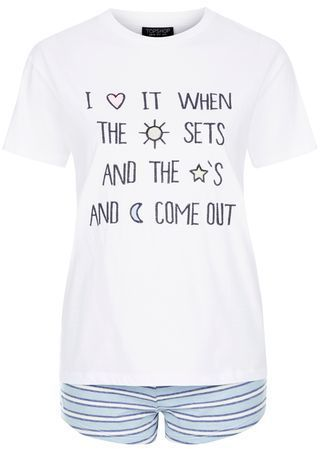 Shop for Slogan Embroidered Pyjama Set by Topshop at ShopStyle. Now for £12.