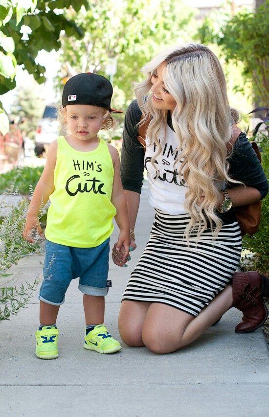 Stylish little boy n mama