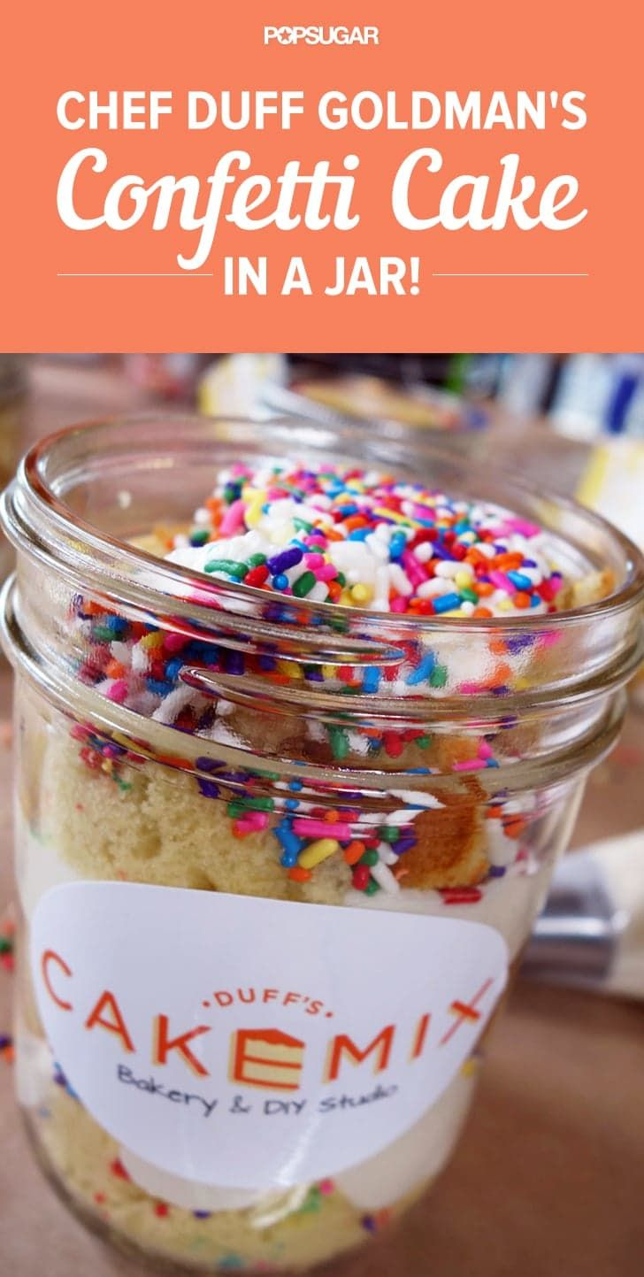 Pin for Later: 2014's Most Mouthwatering Food Videos Duff Goldman's Confetti Cake in a Jar