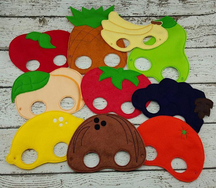 10pc Fruit Mask Set by TwinMonkeyEmbroidery on Etsy