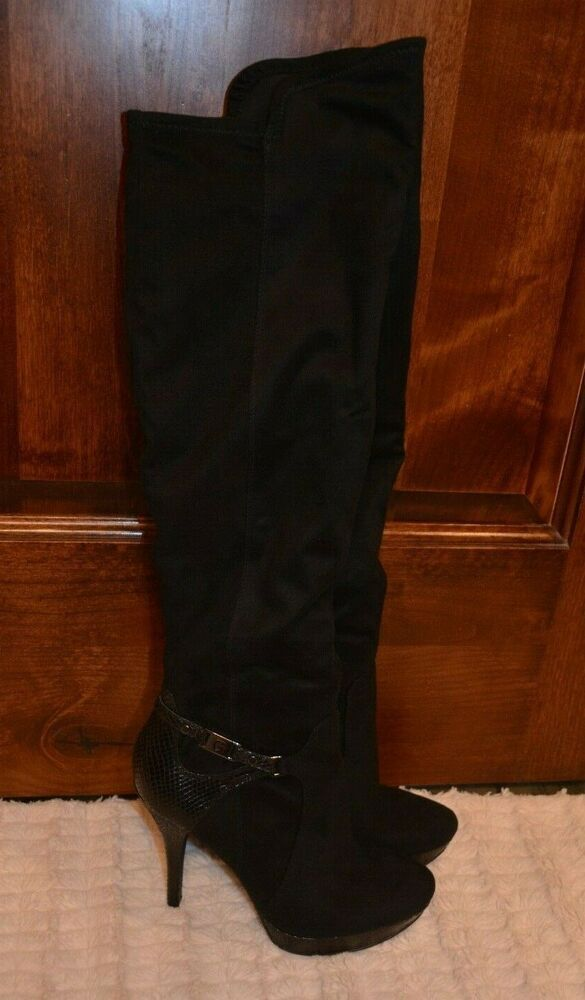 guess black suede boots official d9572