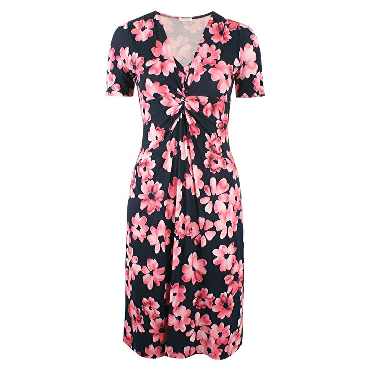 Livia Lovely Coralle von KD Klaus Dilkrath Dilkrath #kd #dilkrath #kd12 #outfit #livia #lovely #coralle #pink #dress #kleid #flower #marine #black #blumen #summer #spring #look #readytowear