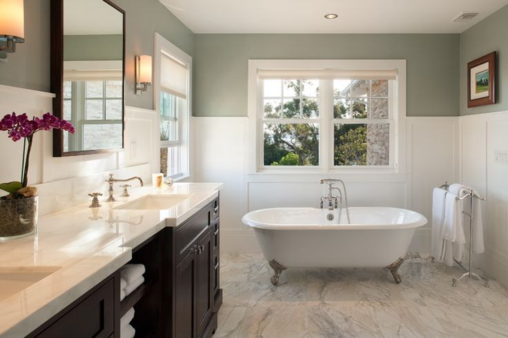 Craftsman Style Master Bathroom : Hill construction company la jolla san diego custom home