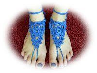 Patroon van Iefke, van haar weblog Zelfgemaakt: Blote voeten sandalen
