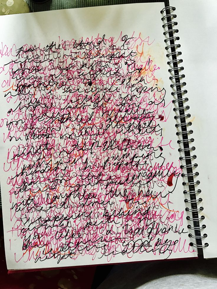 Abstract writing pattern