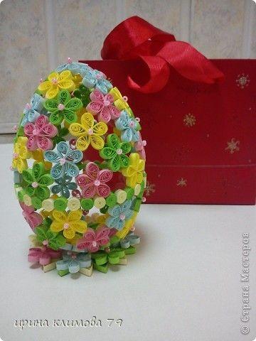 Поделка, изделие Квиллинг: пасхальное яйцо Бумага Пасха. Фото 1