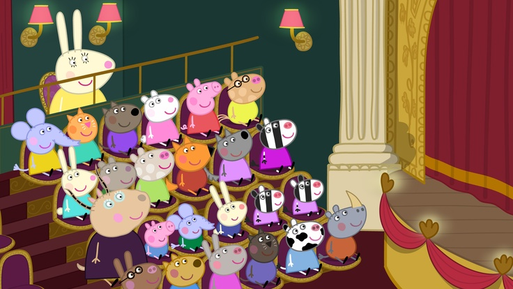 Peppa Pig and friends are waiting for the Christmas Show to start!  Peppa Pig (Vol. 17) - The Christmas Show is available on DVD now!