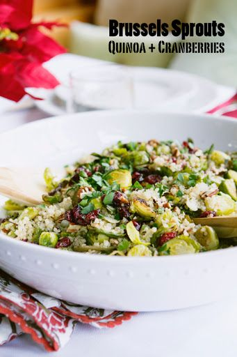 Gluten Free and Vegan Brussels sprouts with Quinoa and Dried Cranberries Recipe on Yummly