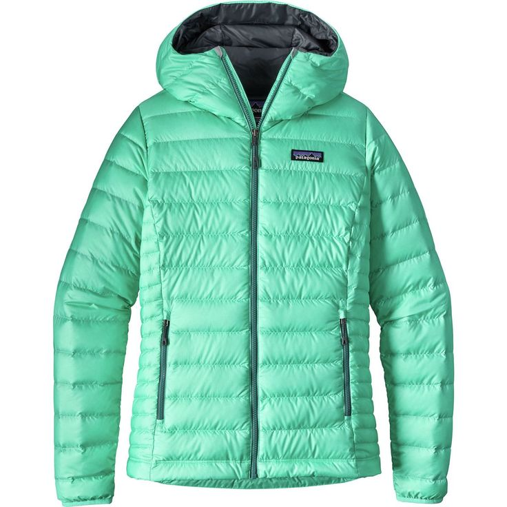 Patagonia - Down Sweater Full-Zip Hooded Jacket - Women's - Galah Green