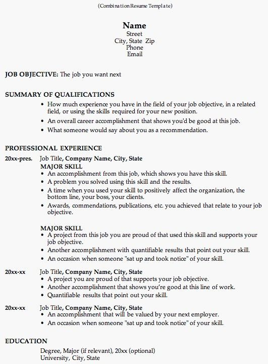 take a look at this combination resume template to see why employers like it so much this resume format is great for career change and work history - Resume Document Format