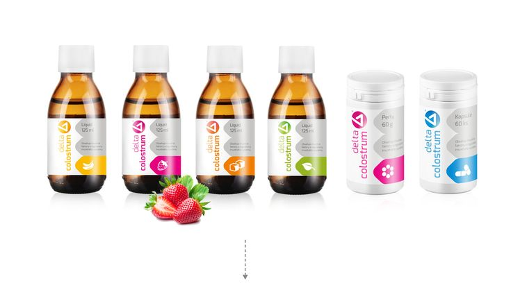 Colostrum from Delta Medical - Complete rebranding, packaging, webdesign and marketing for the brand Delta Medical.