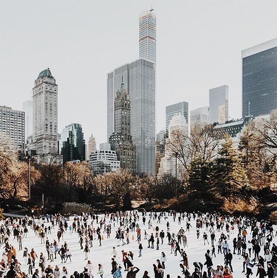 Ice skating in New York by Soho House