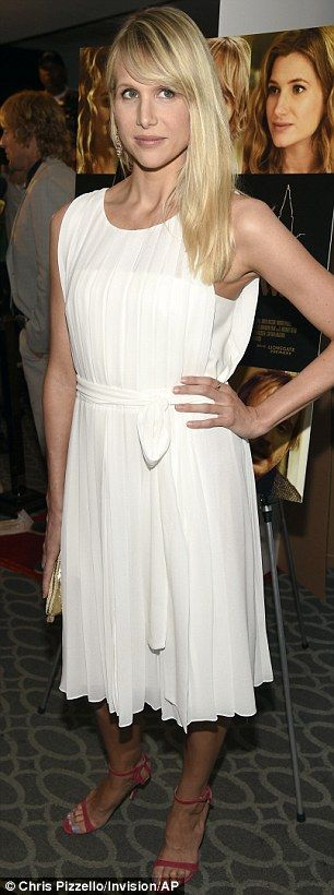 Blonde ambition: Actress Charlotte Ross and lovely Lucy Punch were turning heads on the re...
