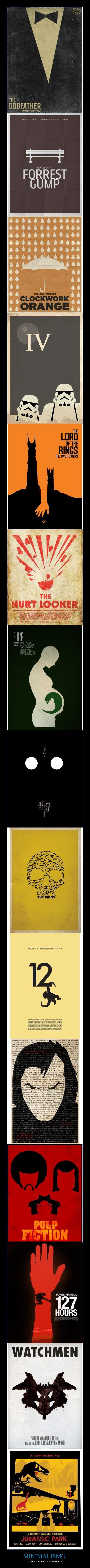 Colección de pósters minimalistas de películas