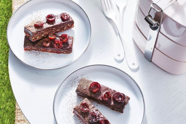 Only good things go into this guilt-free cherry ripe, one of our favourite chocolate bars.
